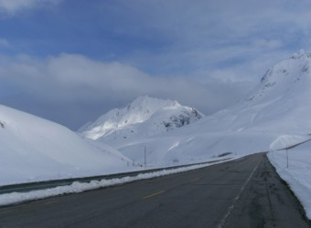 Haines Pass In Snow