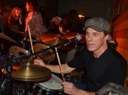 Pat Fitzgerald playing drums, McCarthy 2011